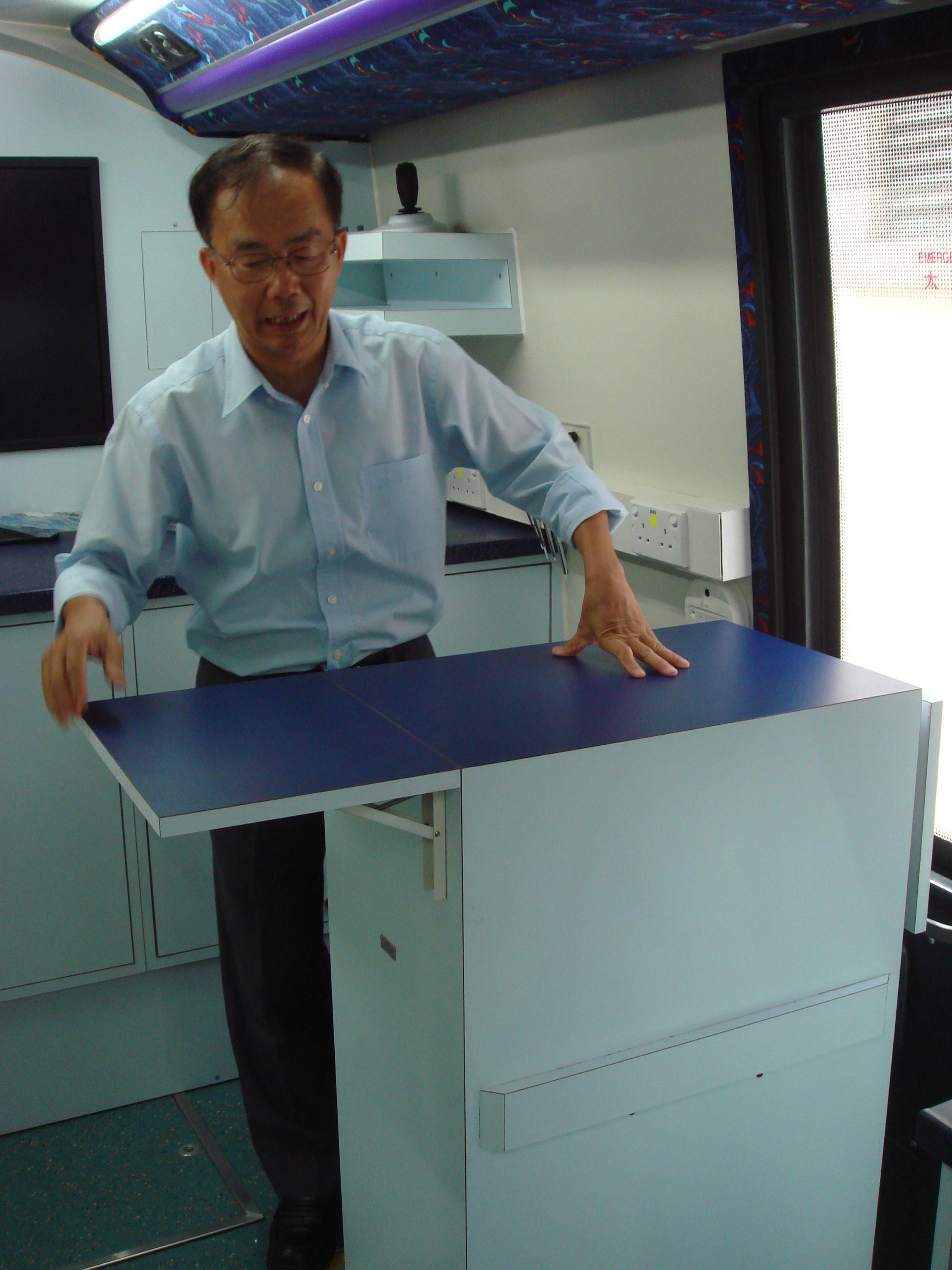 Dr. William Mak and his teaching podium.