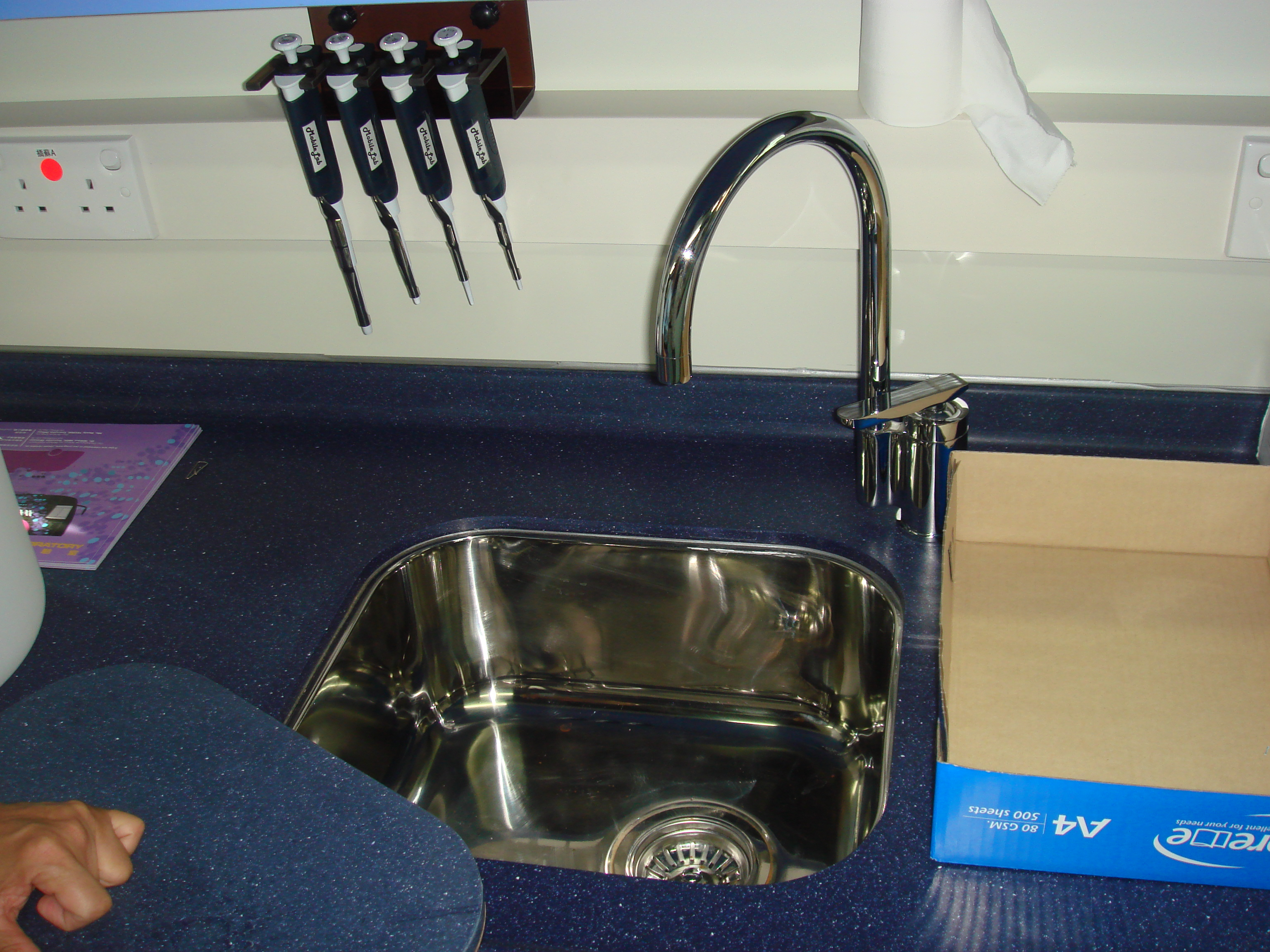 There is even a sink in the bus!