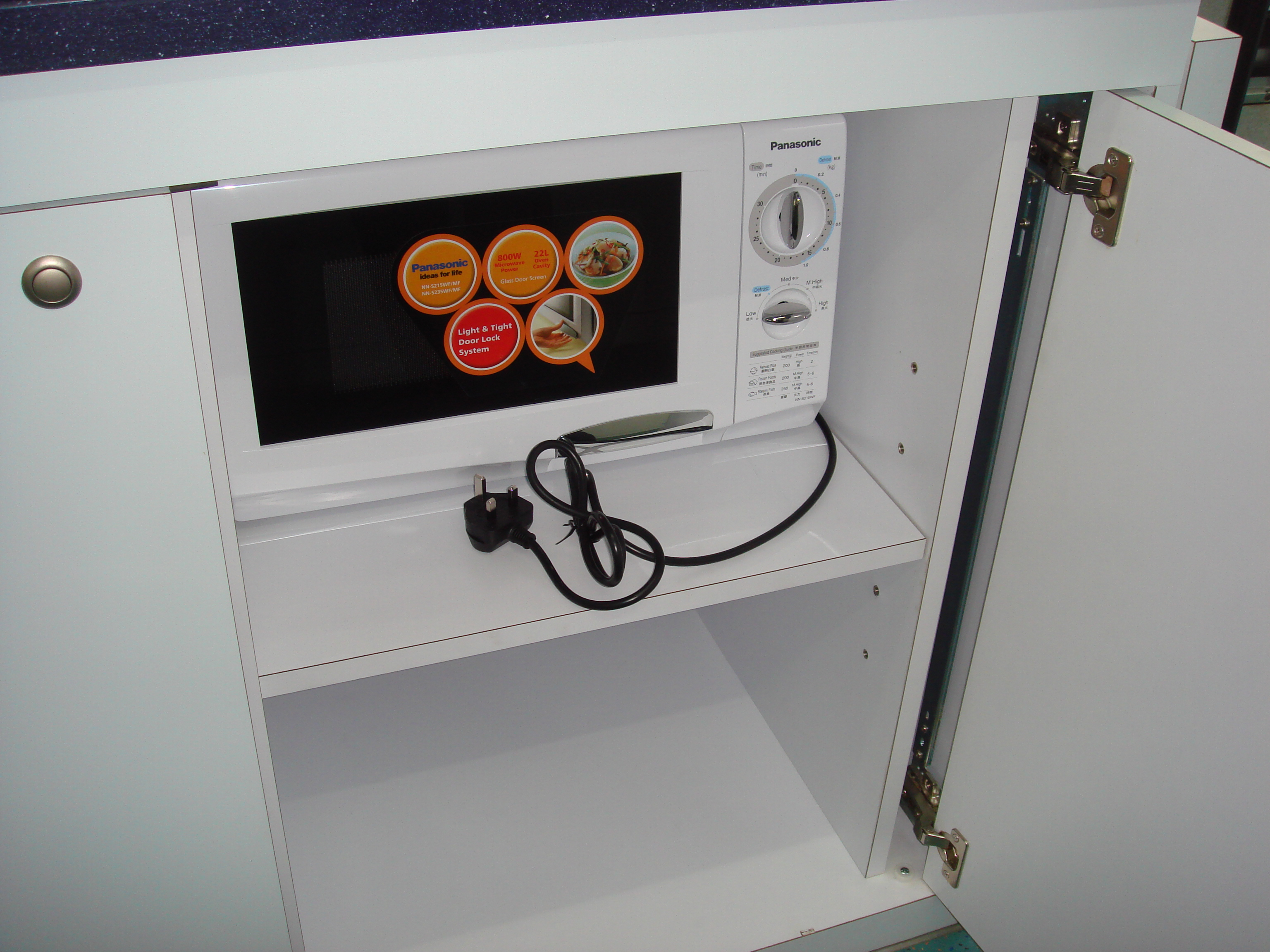 A microwave oven for making agarose gel