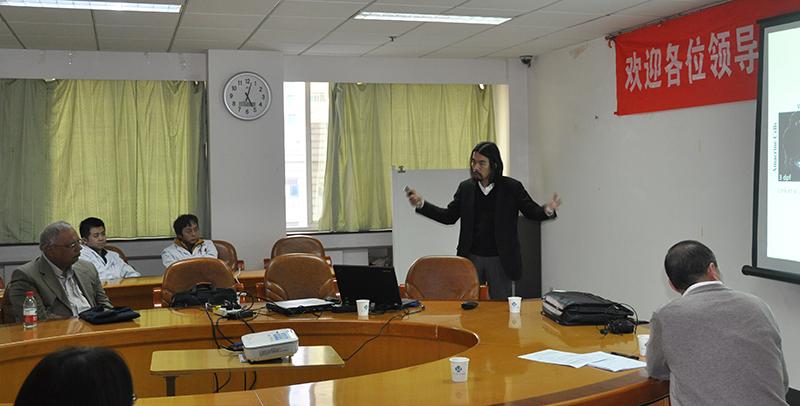 Yuk Fai Leung giving a talk at