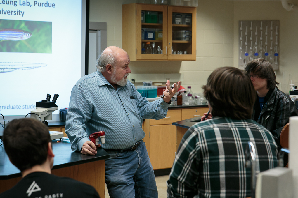 Dr. Clark Gedney described the research opportunities in our department for high school students.