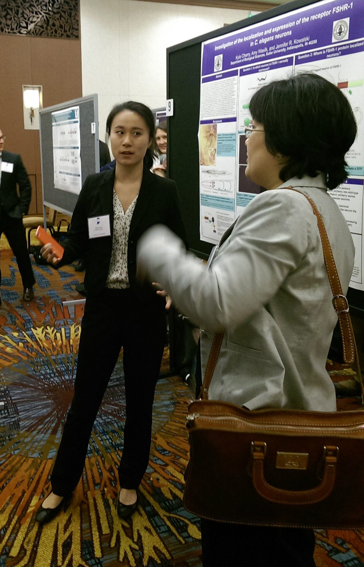 Meng presenting her poster.