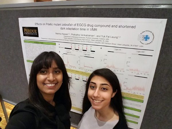 Menna Hassan and her graduate mentor Prahatha Venkatraman