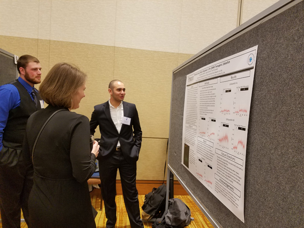 Khaled Noui-Mehidi presenting his poster.
