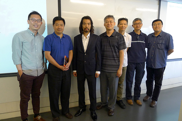 Yuk Fai Leung with the Professors from the School of Optometry at the Hong Kong Polytechnic University