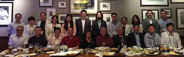 Dinner with Prof. Mark Tso and his former students.