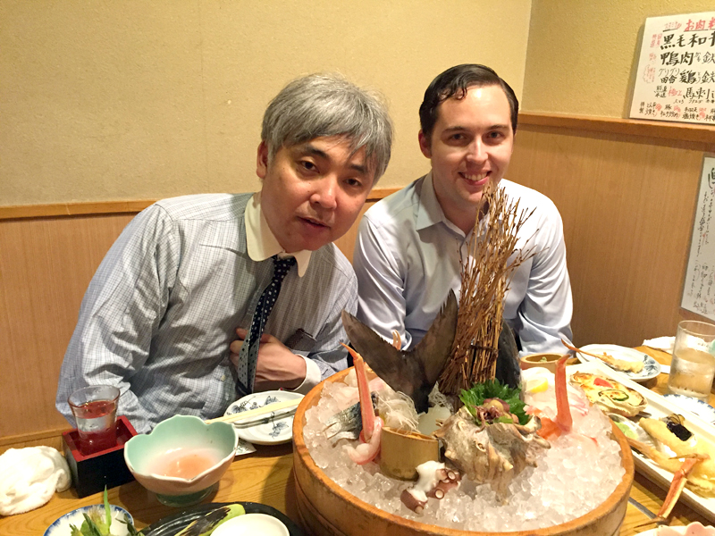 Dr. Motokazu fed us with authentic, delicious Japanese food!