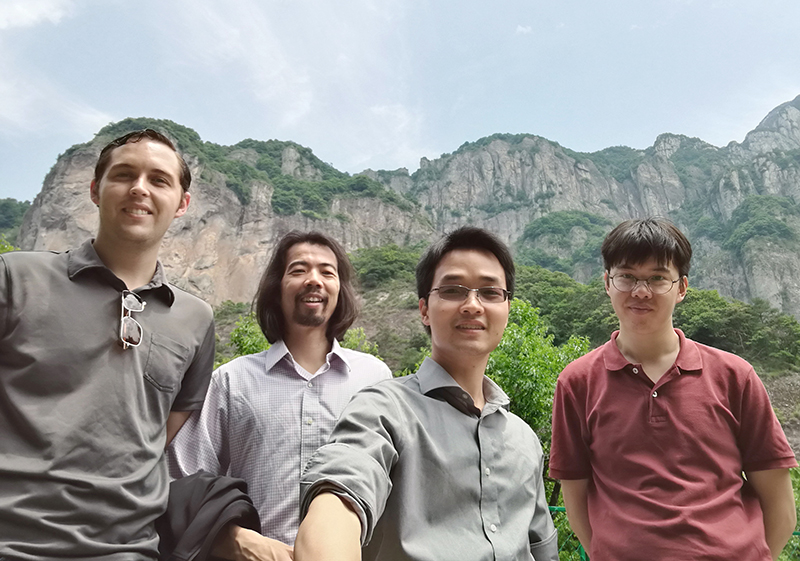 Logan, Fai and colleagues at Yandang mountains.