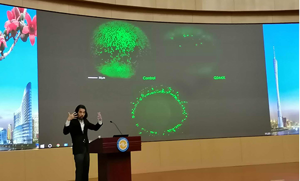 I gave a seminar on our drug-screening effort using zebrafish at ZhongShan Ophthalmic Center.